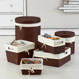 Espresso Rattan I Am Storage Collection