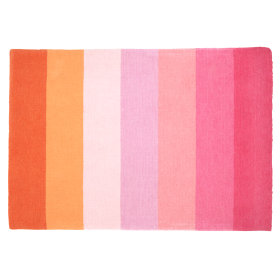 Broad Stripe Rug (Pink)