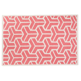 Crows Feet Rug (Pink)