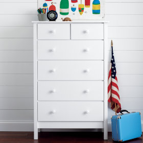 Simple 2-Over-4 Dresser (White)
