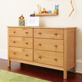 Simple 6-Drawer Dresser (Natural)