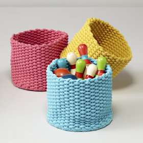 Kneatly Knit Small Storage Bins