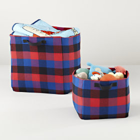 Buffalo Check Storage Collection (Red)