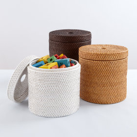 Rattan I Am Round Basket