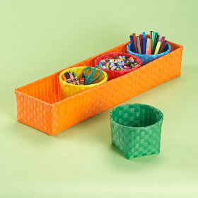 Strappy-Go-Lucky 4 Bin Storage Set (Orange)