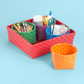 Strappy-Go-Lucky 4 Bin Storage Set (Red)