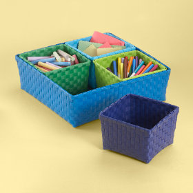 Strappy-Go-Lucky 4 Bin Storage Set (Blue)