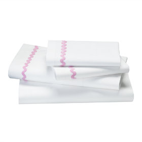 Ric Rac Sheet Set (Pink)