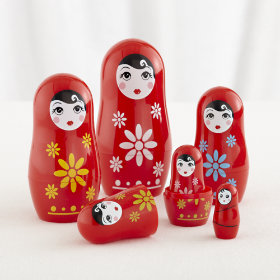 The More the Merrier Girl Nesting Dolls