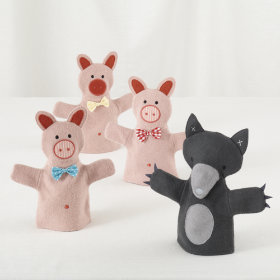 Once Upon a Hand Puppet Set (Three Little Pigs)