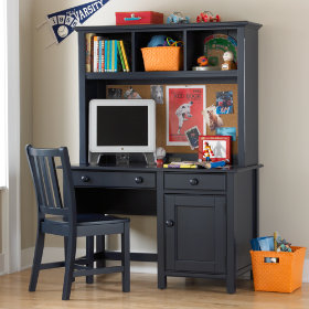 Walden Desk & Hutch (Midnight Blue)