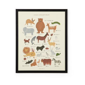 Rifle Paper Framed Animal Wall Art