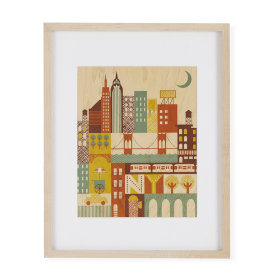The City Wall Art That Never Sleeps Framed Wall Art