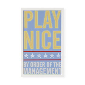 Play Nice Framed Wall Art