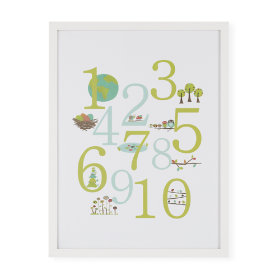 Great Outdoors Framed Numbers Poster