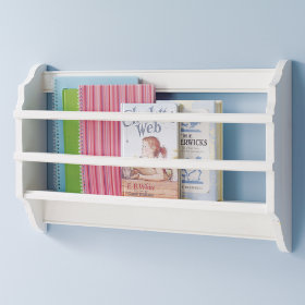 Bin There Done That Wall Book Bin (White)