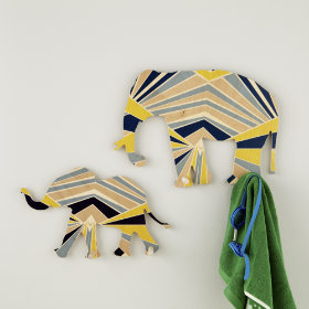 Elephant Flashy Forest Wall Hooks