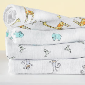 Its a Wrap Swaddling Blanket Set (Zoo Animals)