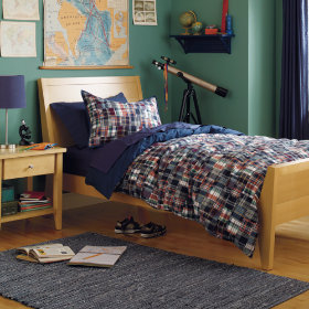 Big Plaid on Campus Duvet Cover