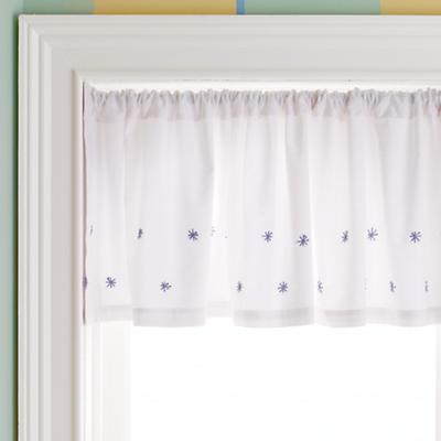 Blue Star Embroidery Valance