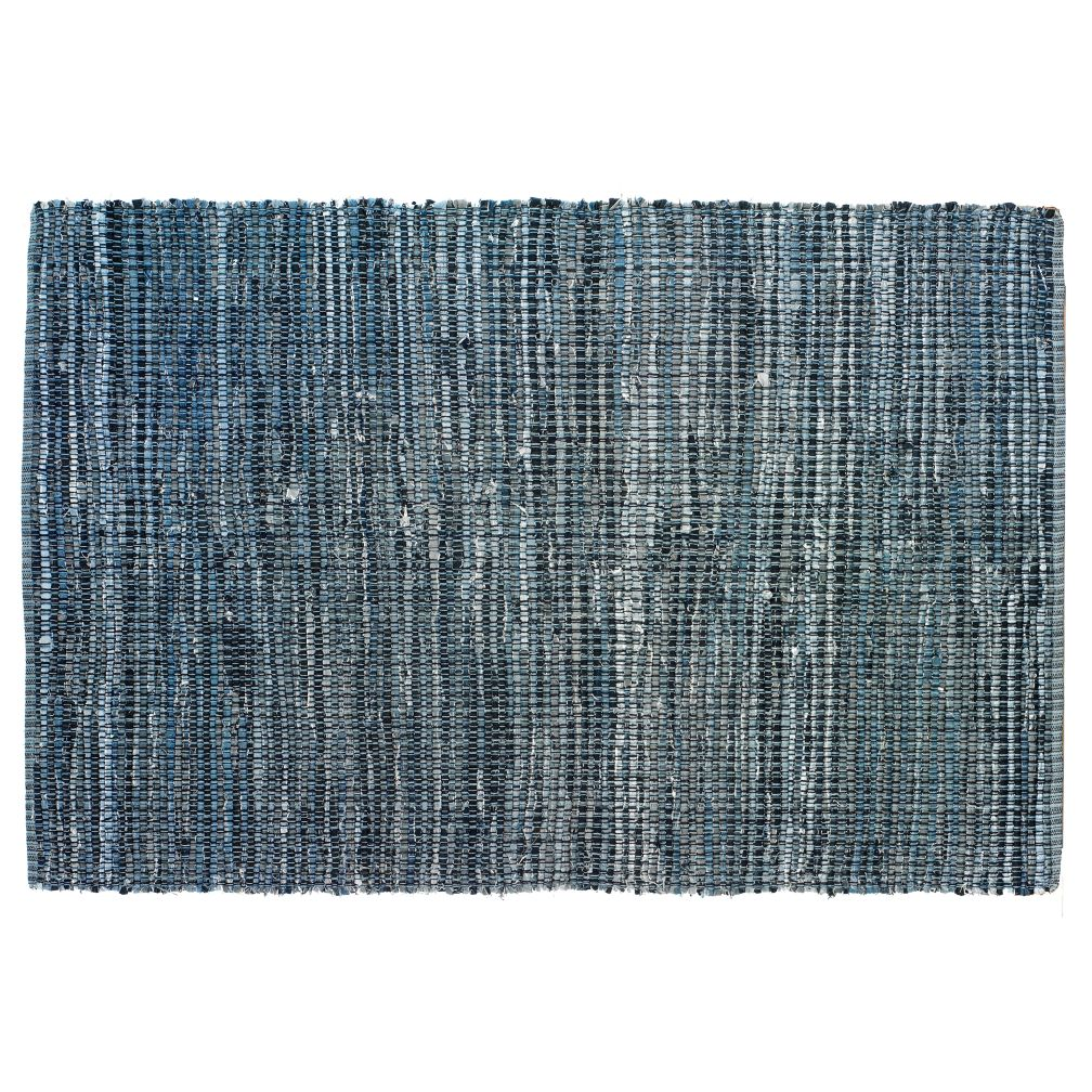 4 x 6' True Blue Rag Rug