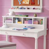 Jenny Lind Desk & Hutch Set (White)