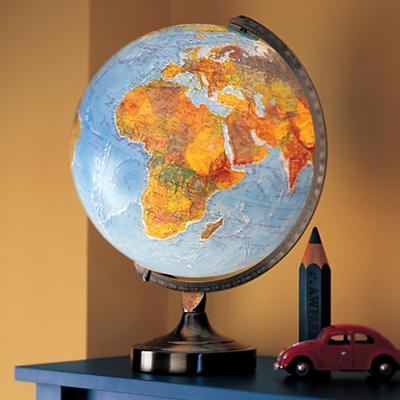 Illuminated World Lamp