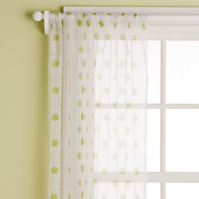 "84"" Dot Curtain Panel (Green)"