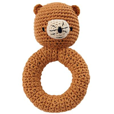 Bear Animal Knit Rattle