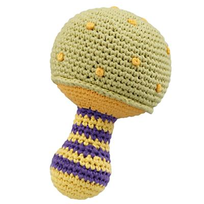 Green Knit Mushroom Rattle