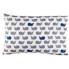 Blue Whale Print Pillowcase