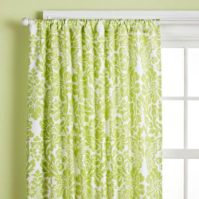 "63"" Wallpaper Floral Curtain Panel (Green)"