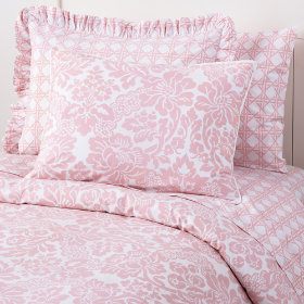 Wallpaper Floral Duvet Cover (Pink)