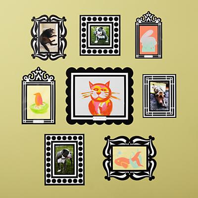 Gallery Frames Wall Decals (Set of 8)