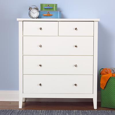 Blake 2-Over-3 Dresser (White)