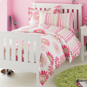 Fresh as a Daisy and Stripes Bedding (Pink)