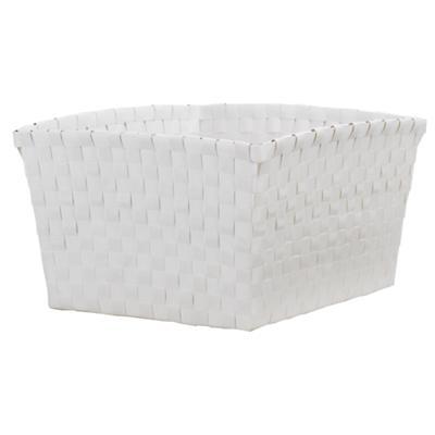Strapping Shelf Basket (White)