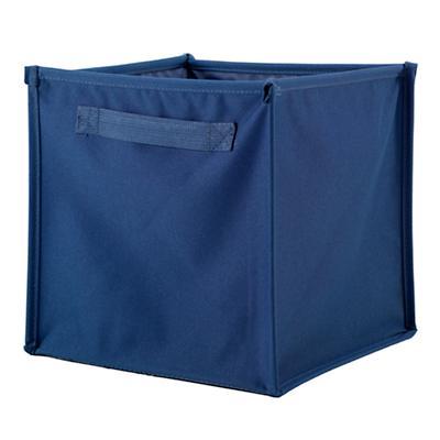 I Think I Canvas Cube Bin (Blue)