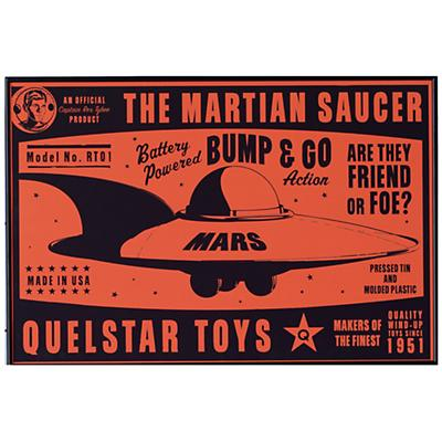 Flying Saucer Wall Art (Framed)