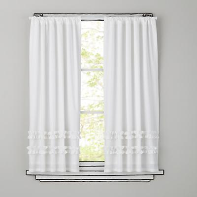 Ruffle Curtain Panels (White)