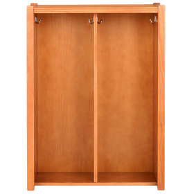 Light Honey Cube Locker Hutch