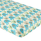 Blue Elephants Crib Fitted Sheet