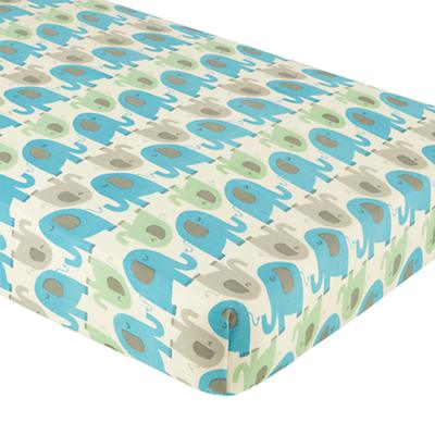 Elephants in the Room Crib Fitted Sheet