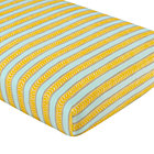 Yellow & Blue Stripe Crib Fitted Sheet