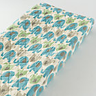 Blue Elephant Changing Pad Cover
