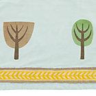 Lt. Blue Multi Tree Crib Skirt