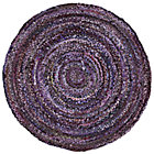 5' dia. Purple Ribbon Rug