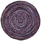 5' dia. Purple Ribbon Rug