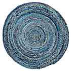 5' dia. Blue Ribbon Rug