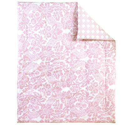 With a Flourish Crib Quilt (Pink)